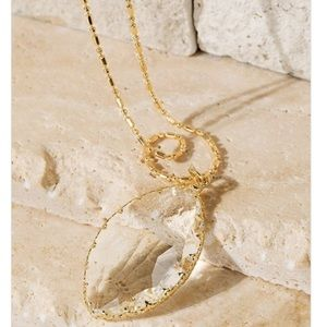 Long Marquise Crystal Pendant